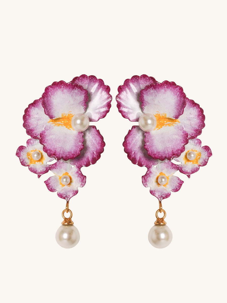 Sadira Earrings in Violet
