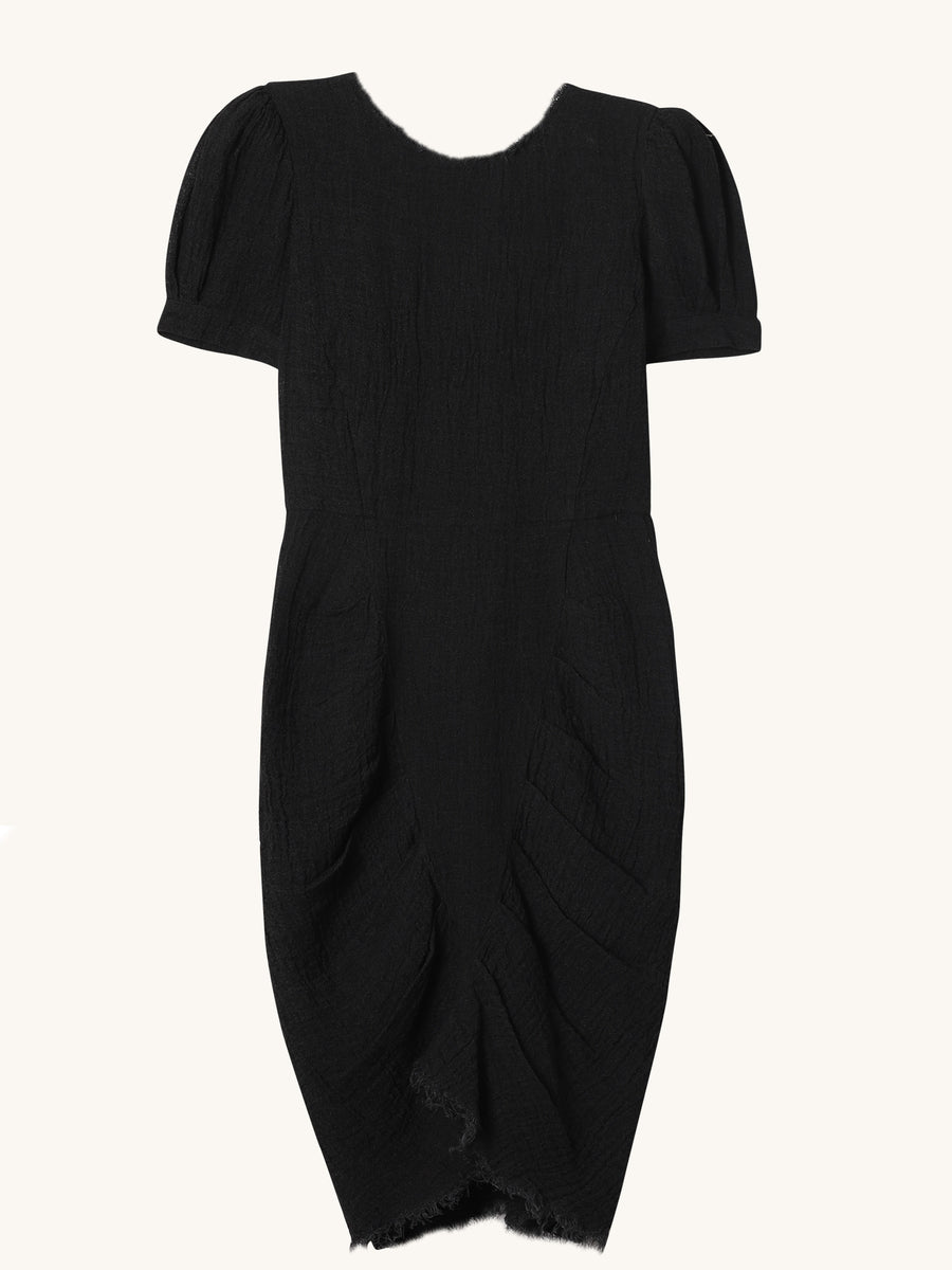 Pipa Dress in Washed Black