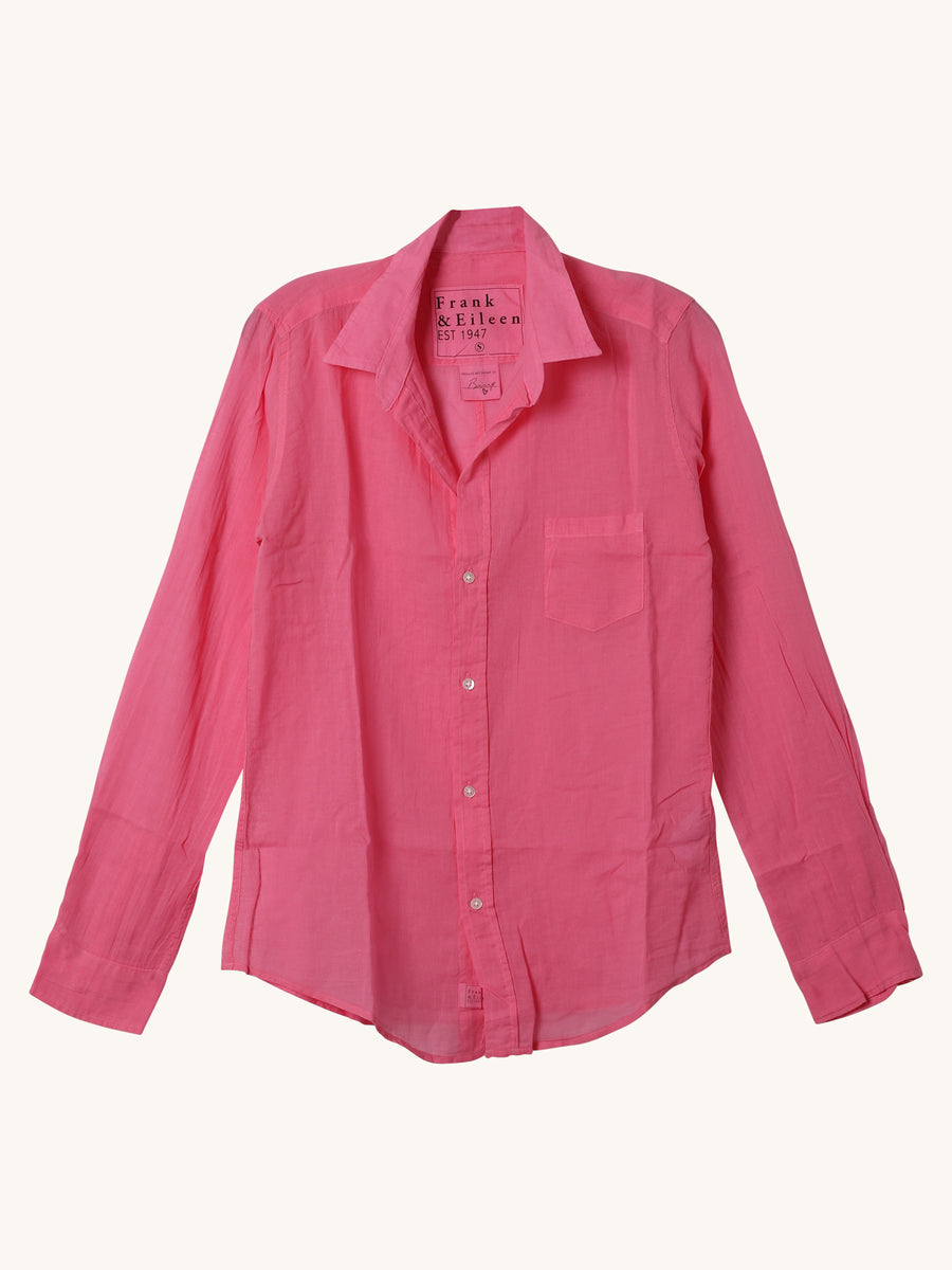 Voile Barry Shirt in Hot Pink