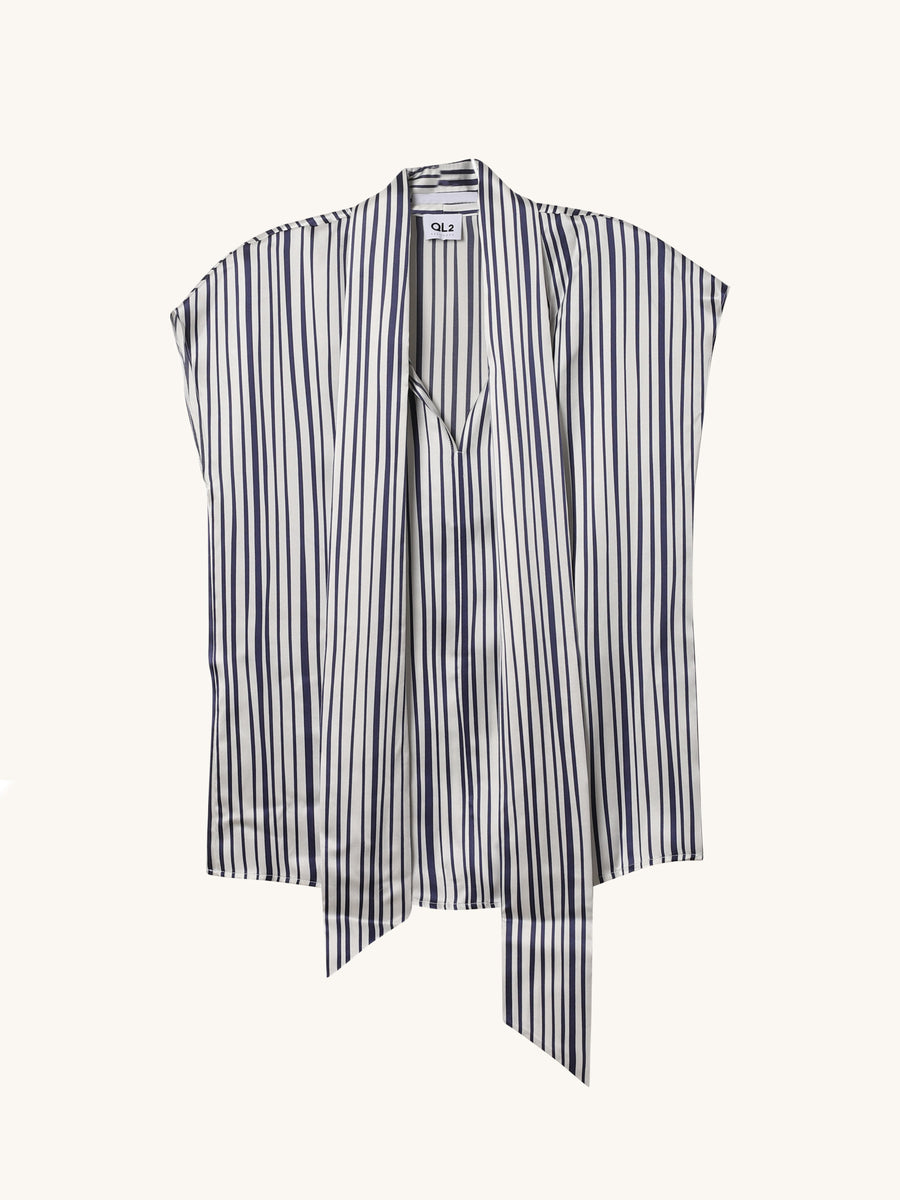 Irene Stripe Top in Blue