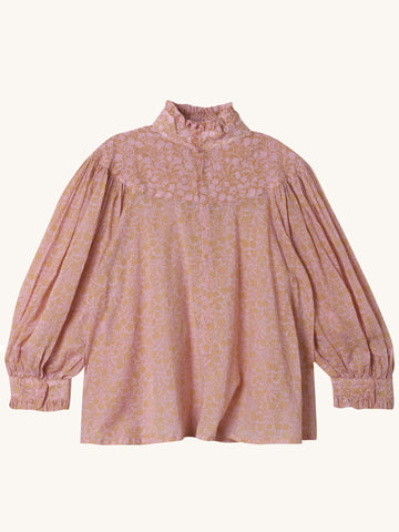 Queen Victoria Blouse in Blush Print