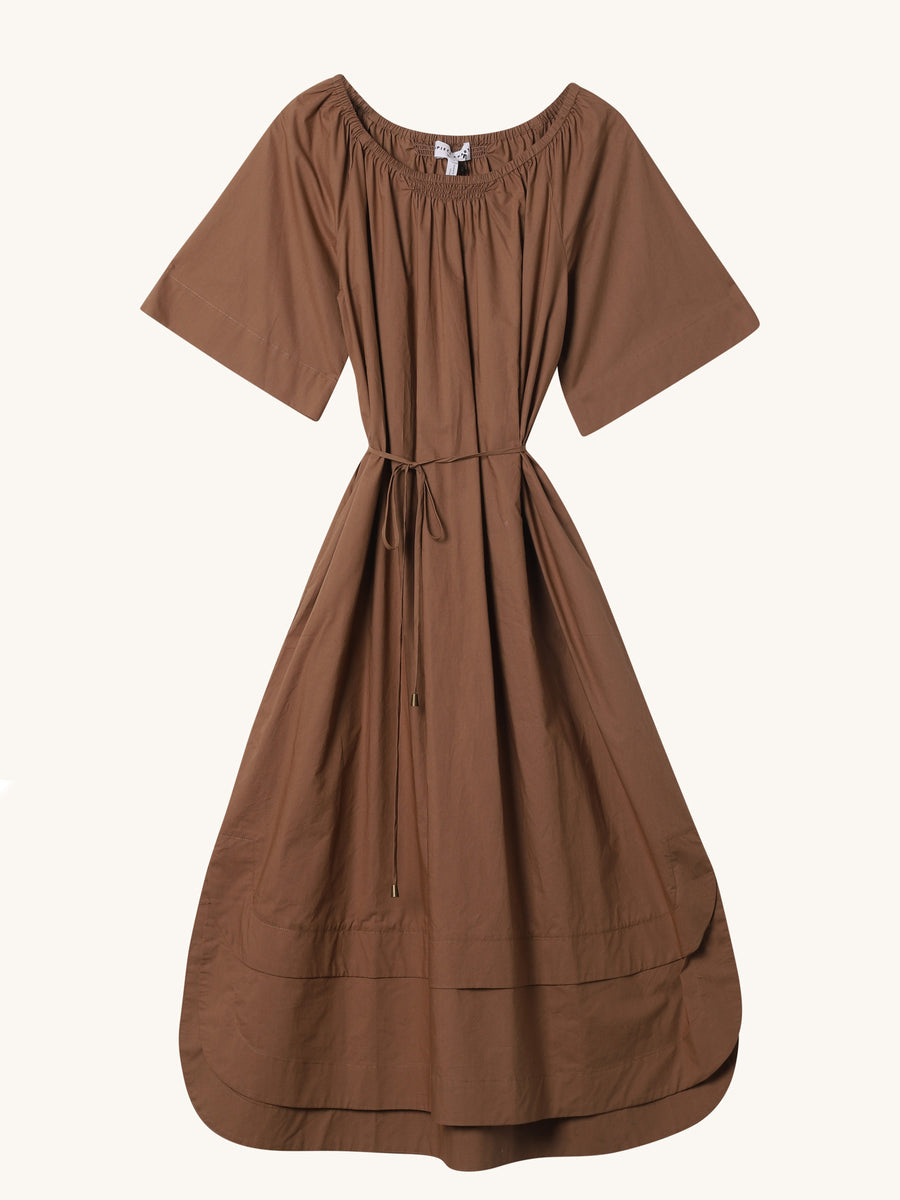 Zagare Dress in Camel