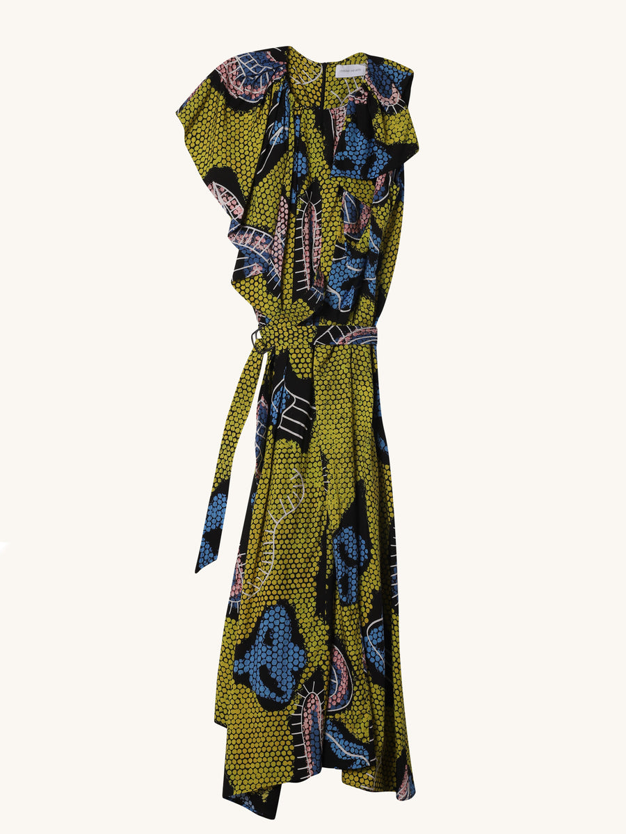 Diji Dress in Yellow Paisley