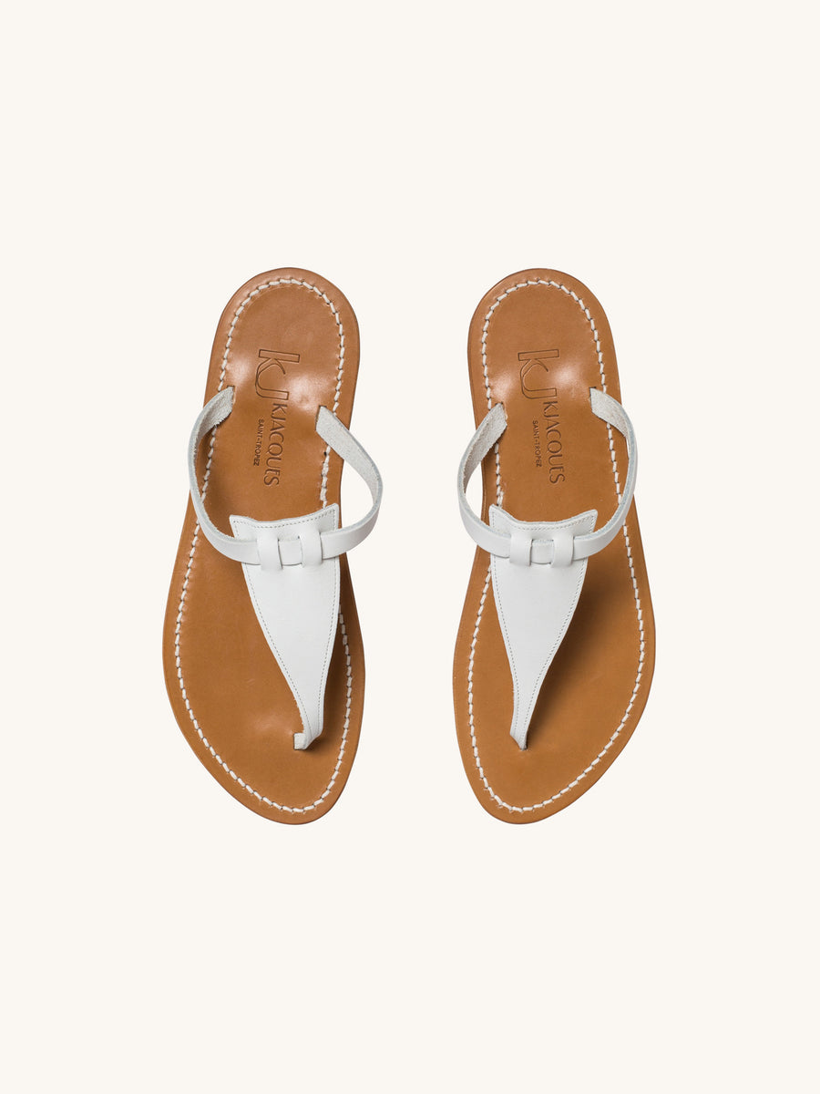 Columbia Sandal in Blanc