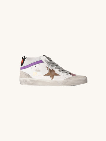 Mid Star Sneaker in White & Pink