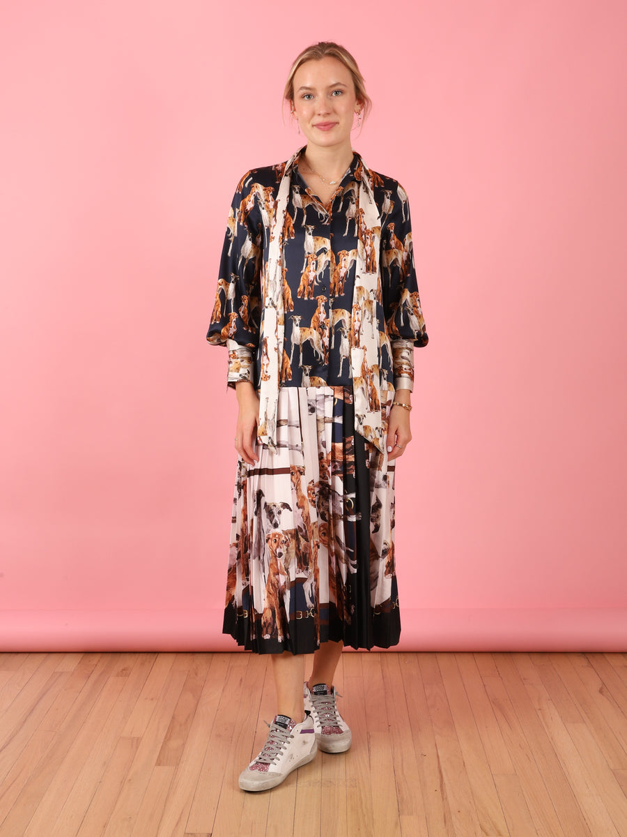 Printed Dog Taren Dress