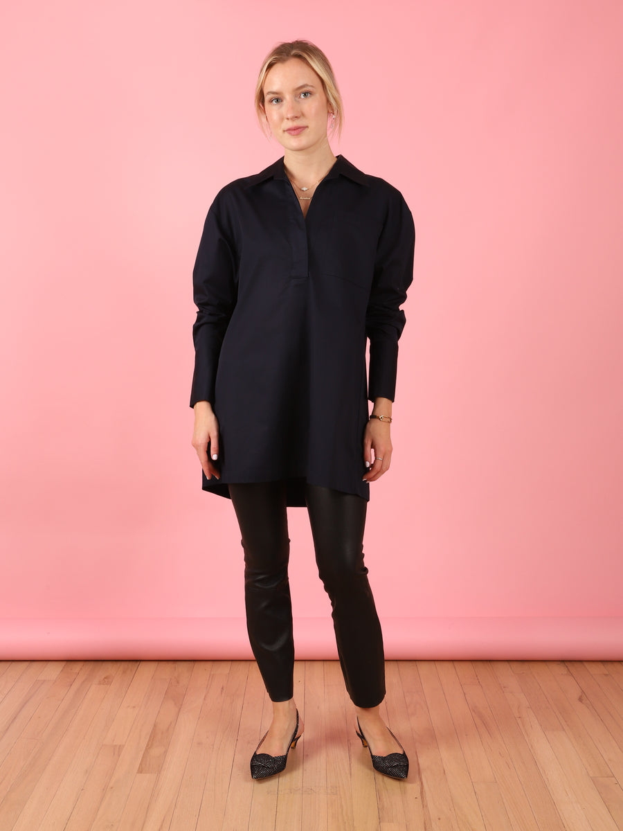 Popover Shirt in Navy