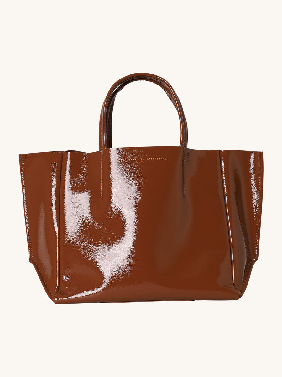 Half Tote in Burnt Umber