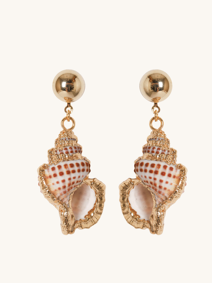 Junonia Earrings in Gold