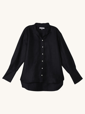Clean Collared Shirt in Navy