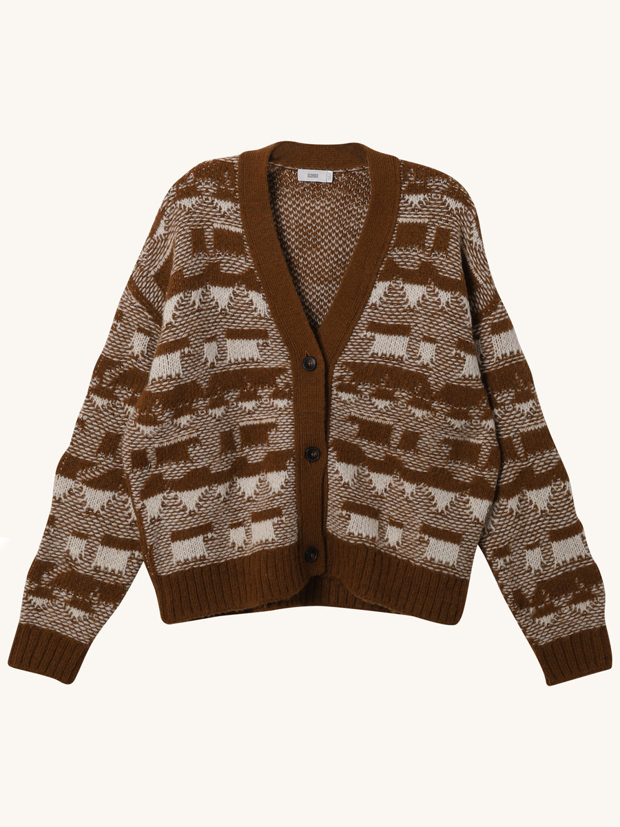 Cardigan in Tobacco