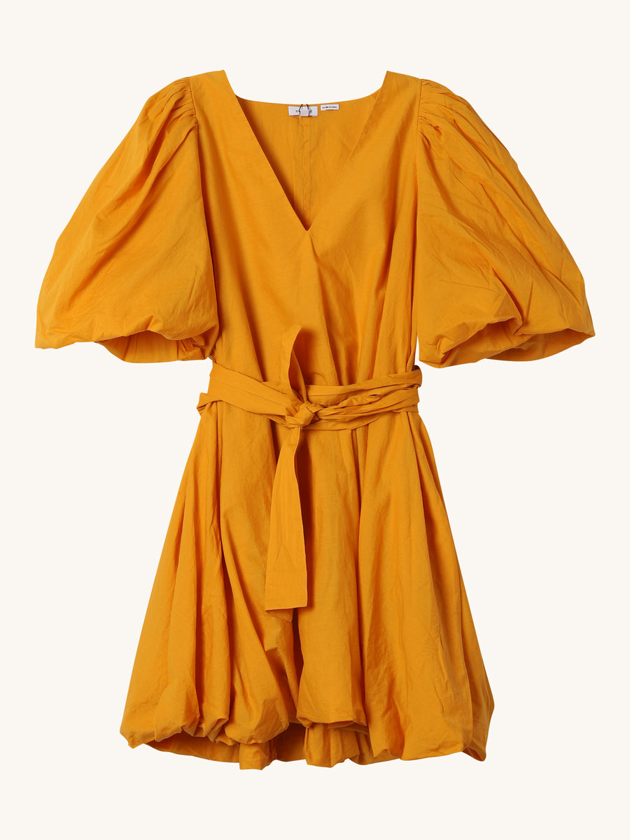 Short Sleeve Marni Dress in Saffron