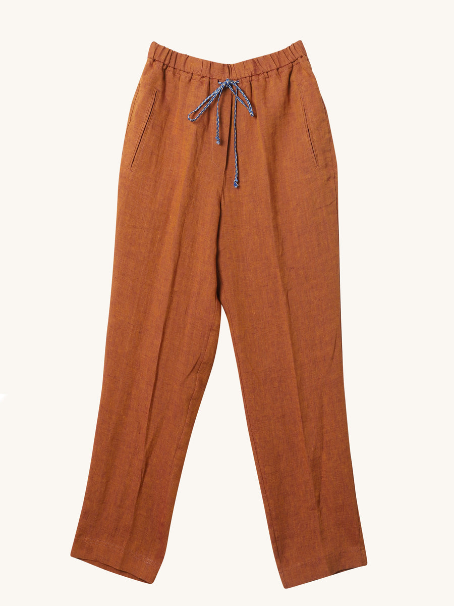 Linen Pants in Cinnamon
