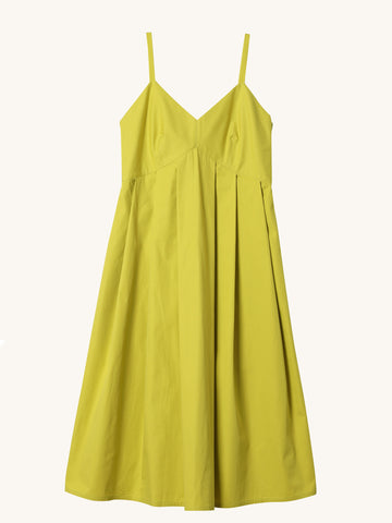 Dauphine Pleated Strap Dress
