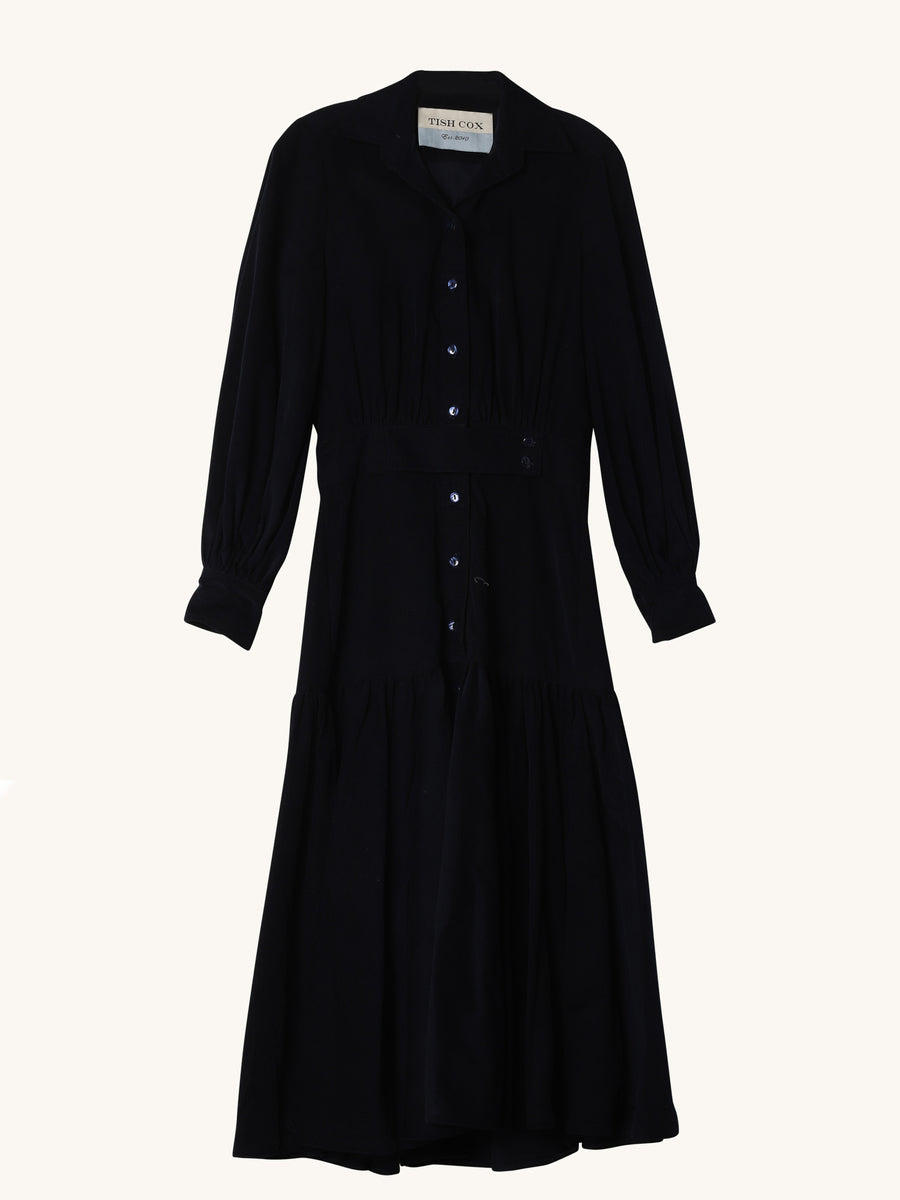 Navy Corduroy Chesey Dress