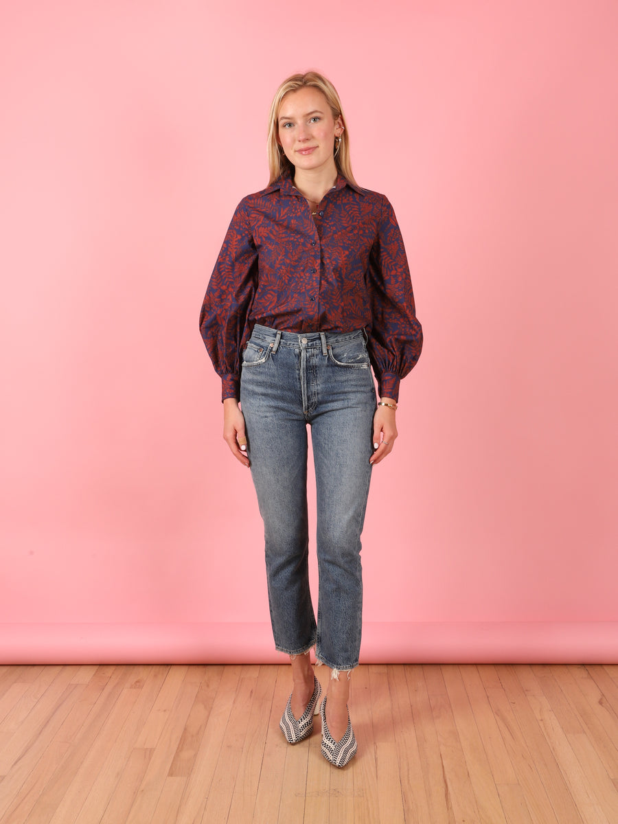 Navy Leaf Bridger Top