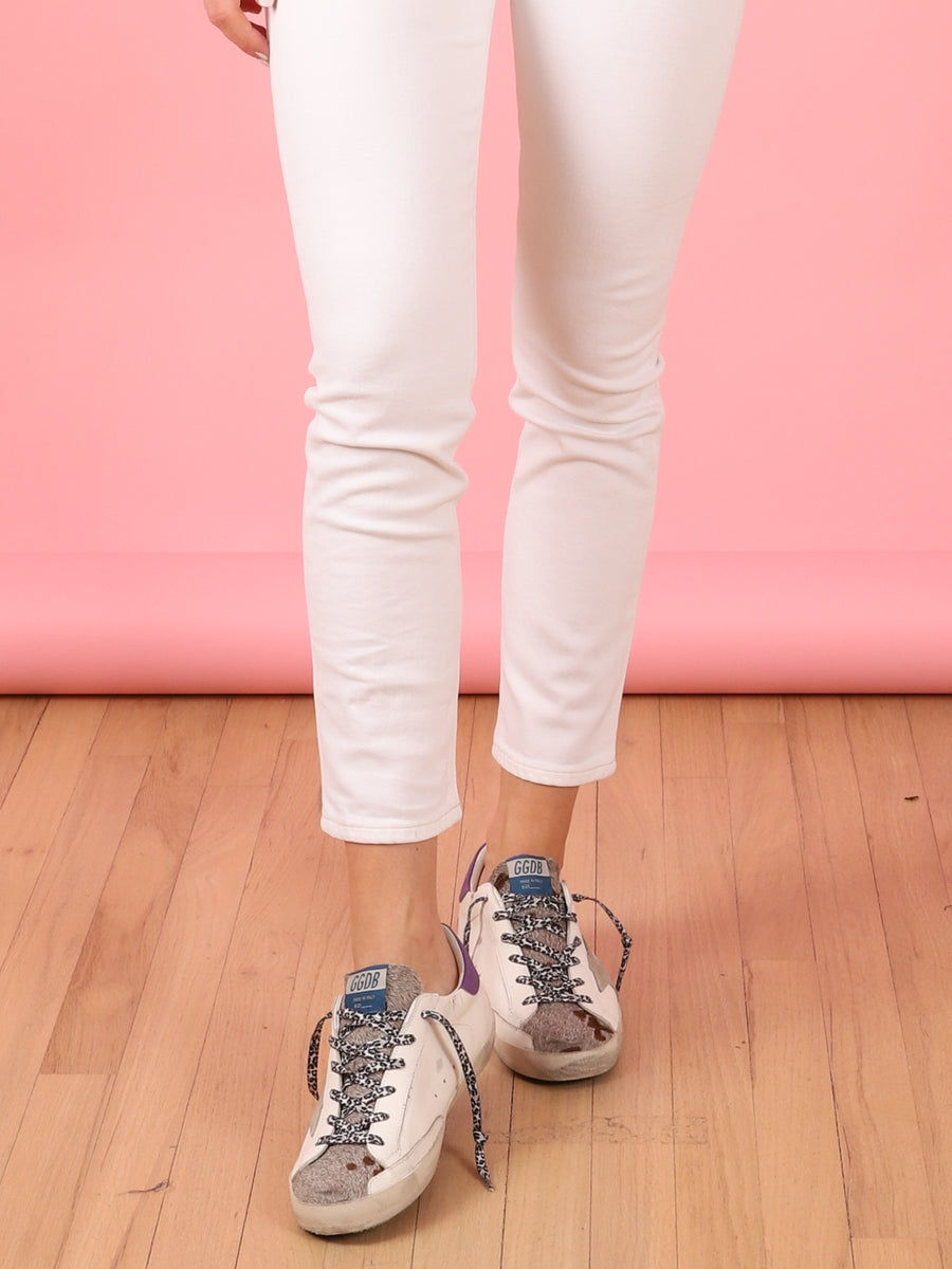 Superstar Pony Hair Sneaker in White