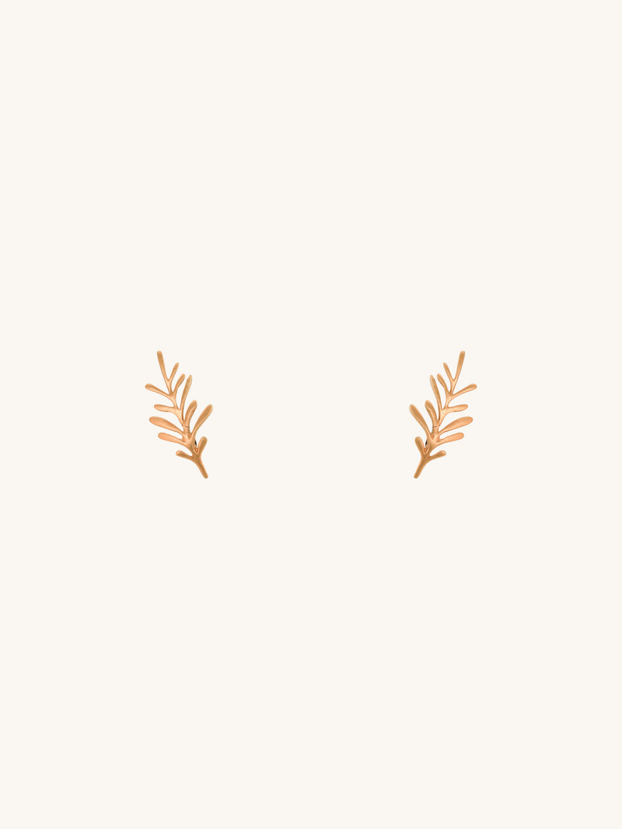 Forest Leaf Stud Earrings