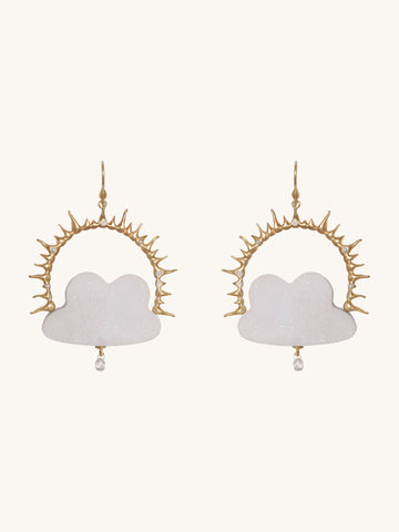 Daydreamer Druzy Cloud Earrings