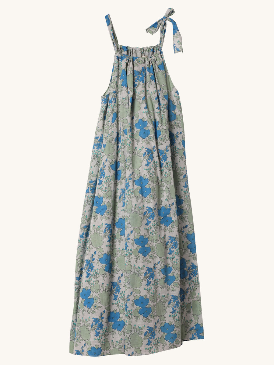 Field Trip Tea Dress in Blue Floral