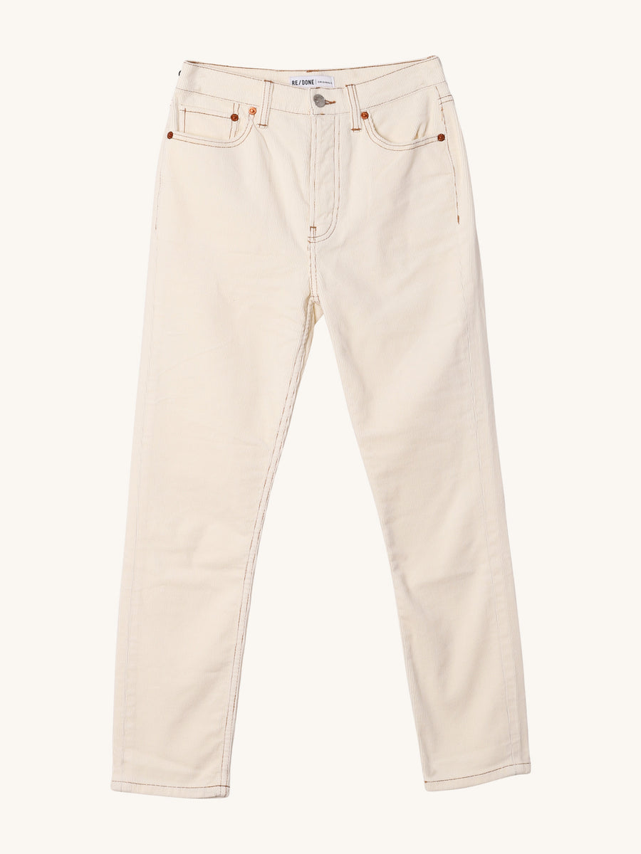 High Rise Ankle Crop Jeans in Winter White