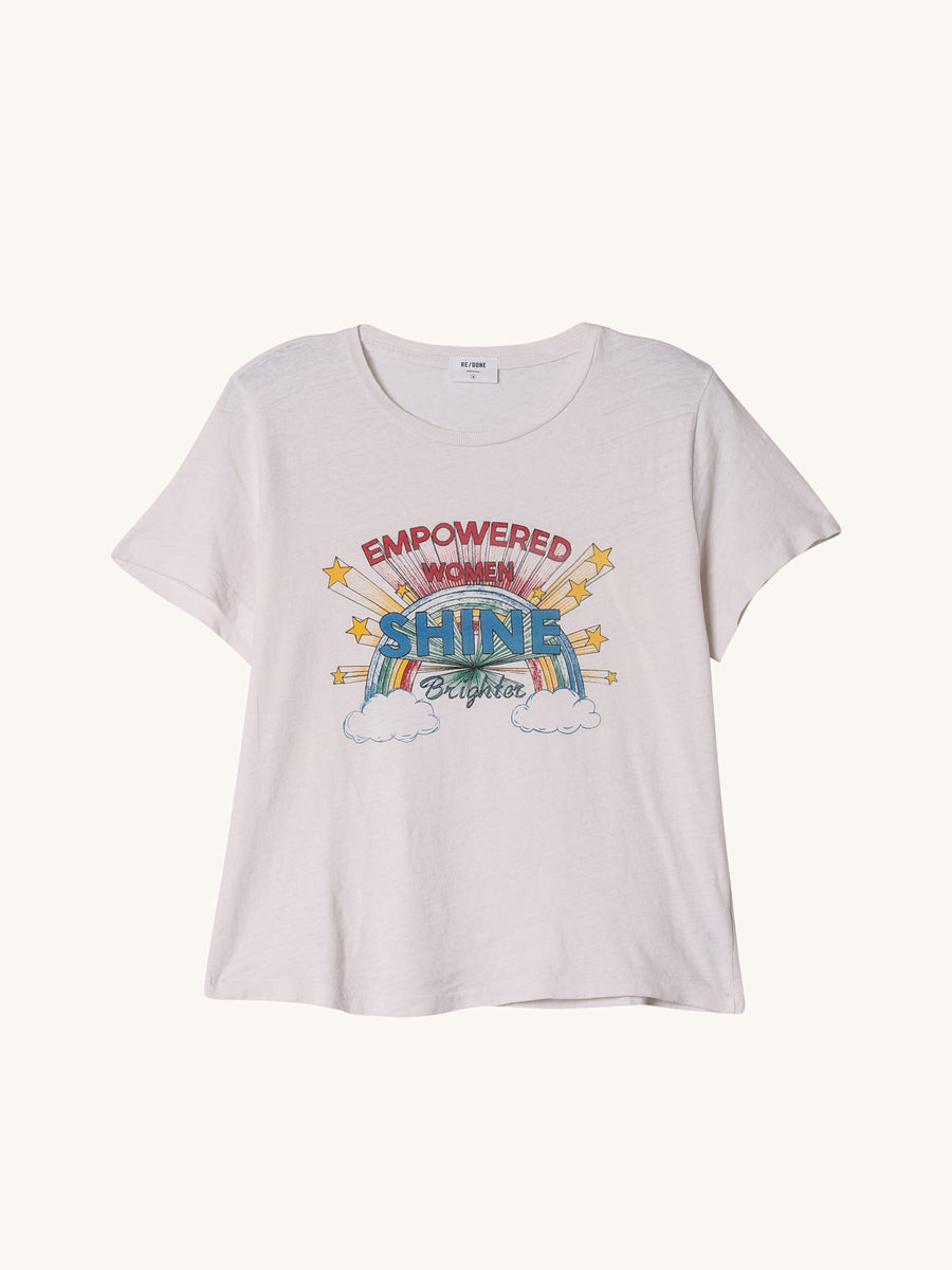 Empowered Women Tee in Vintage White