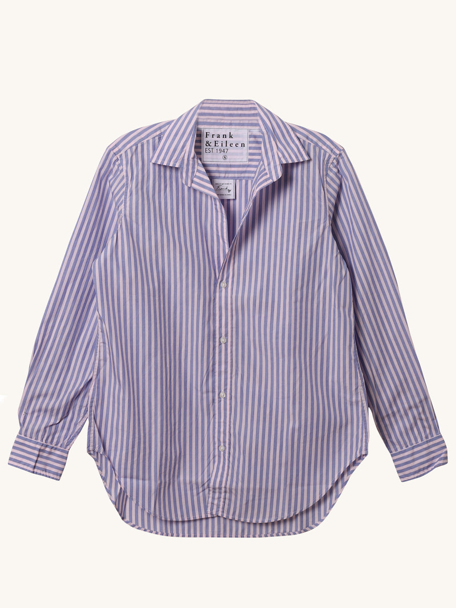 Frank Shirt in Pink & Blue Stripe
