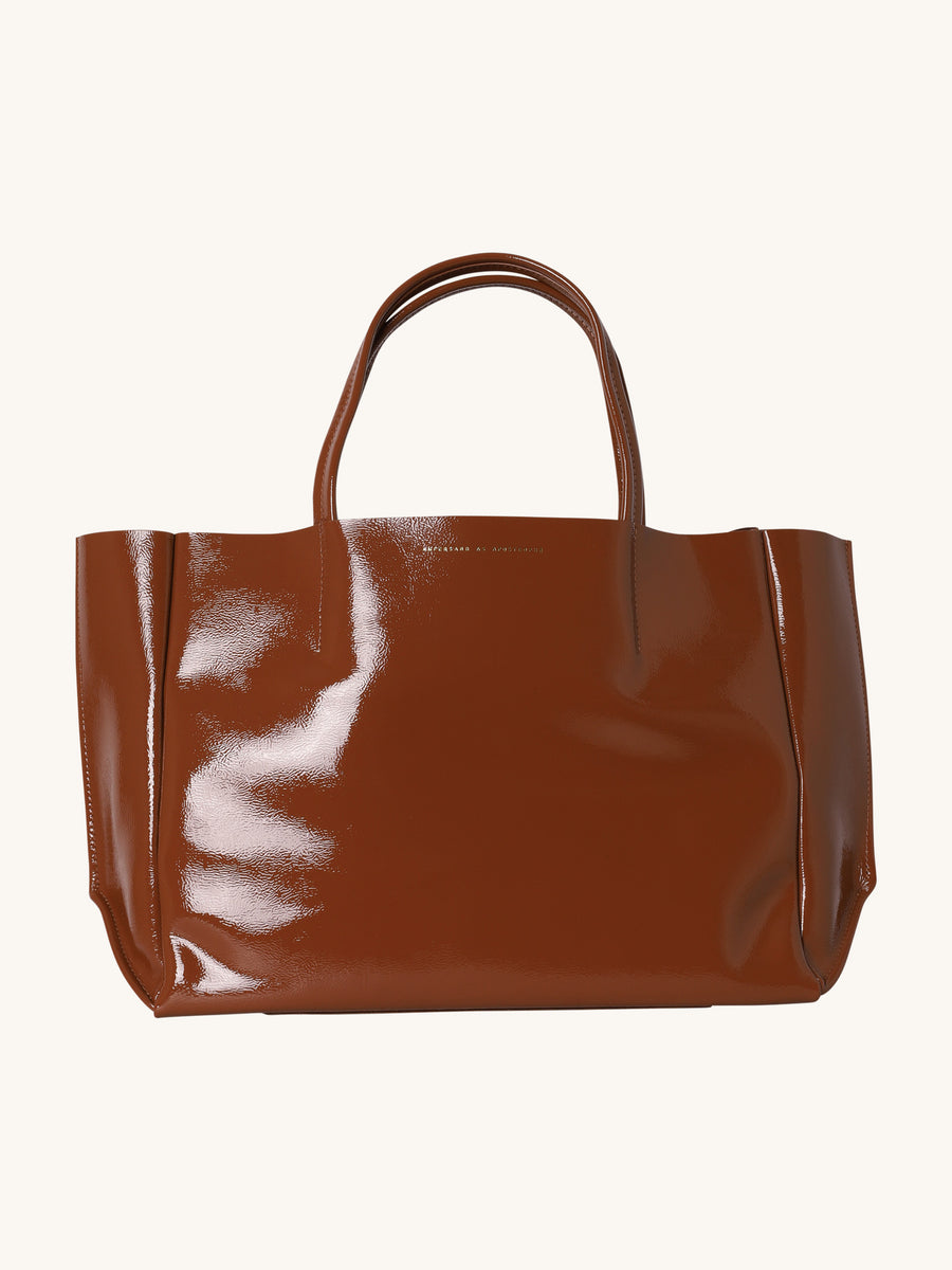 Sideways Tote in Burnt Umber