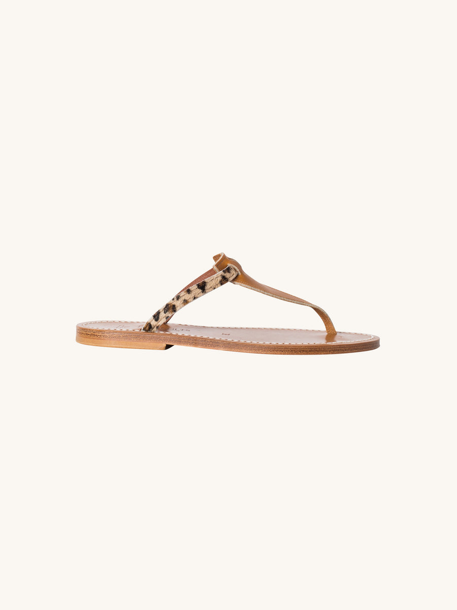 Columbia Sandal in Leopard Print Hair