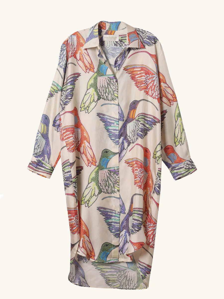 Hummingbird Shirt Dress