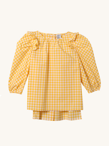 Ghe Yellow Check Top