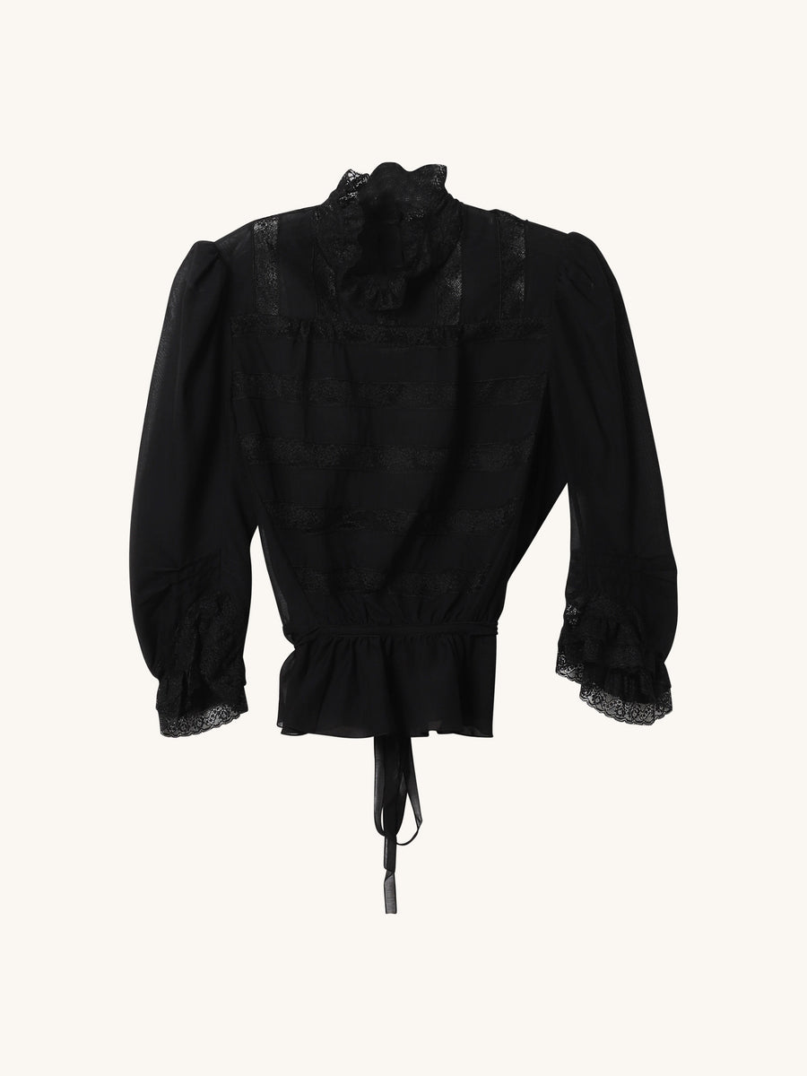 Victorian Blouse in Black