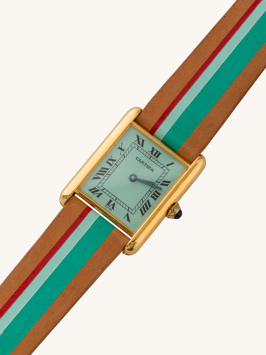 Mint Palm Cartier Tank Watch