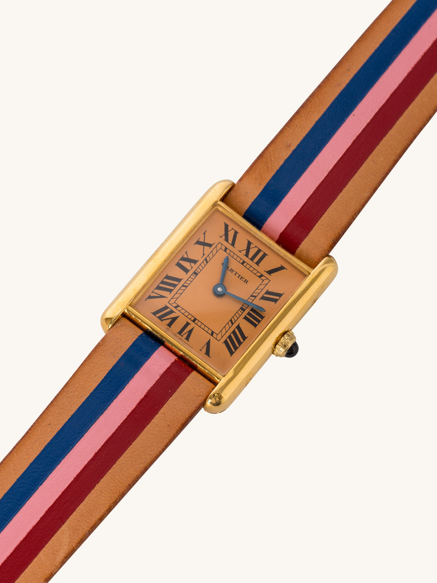 Orange Capitola Cartier Tank Watch