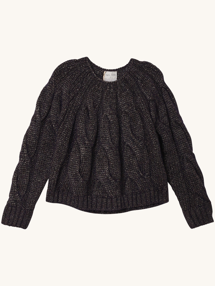 Lurex Mohair Braided Sweater