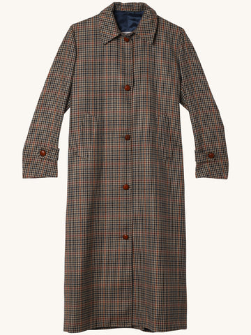 Maria Checked Wool Coat