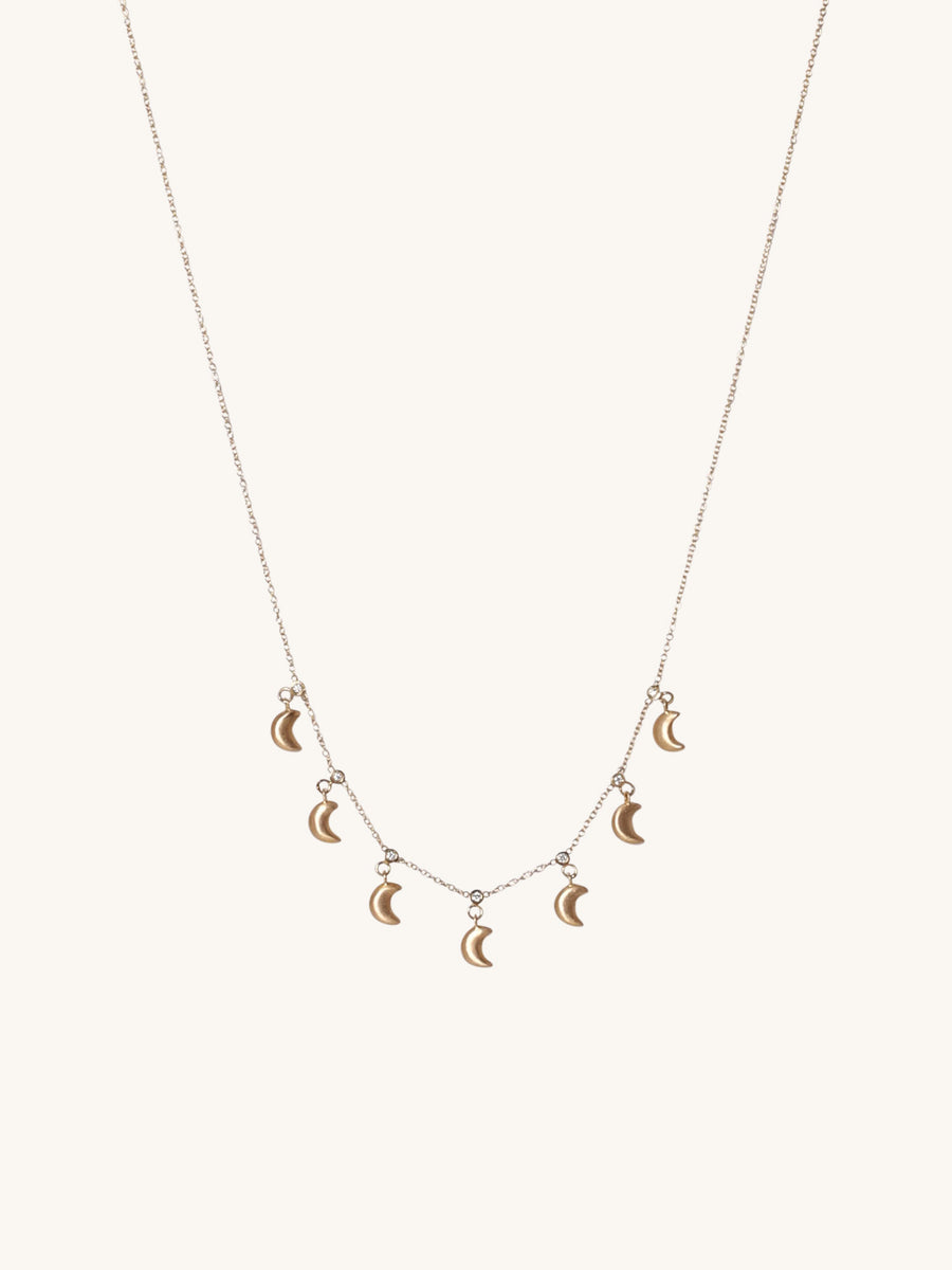 Lucky 7 Moon Necklace