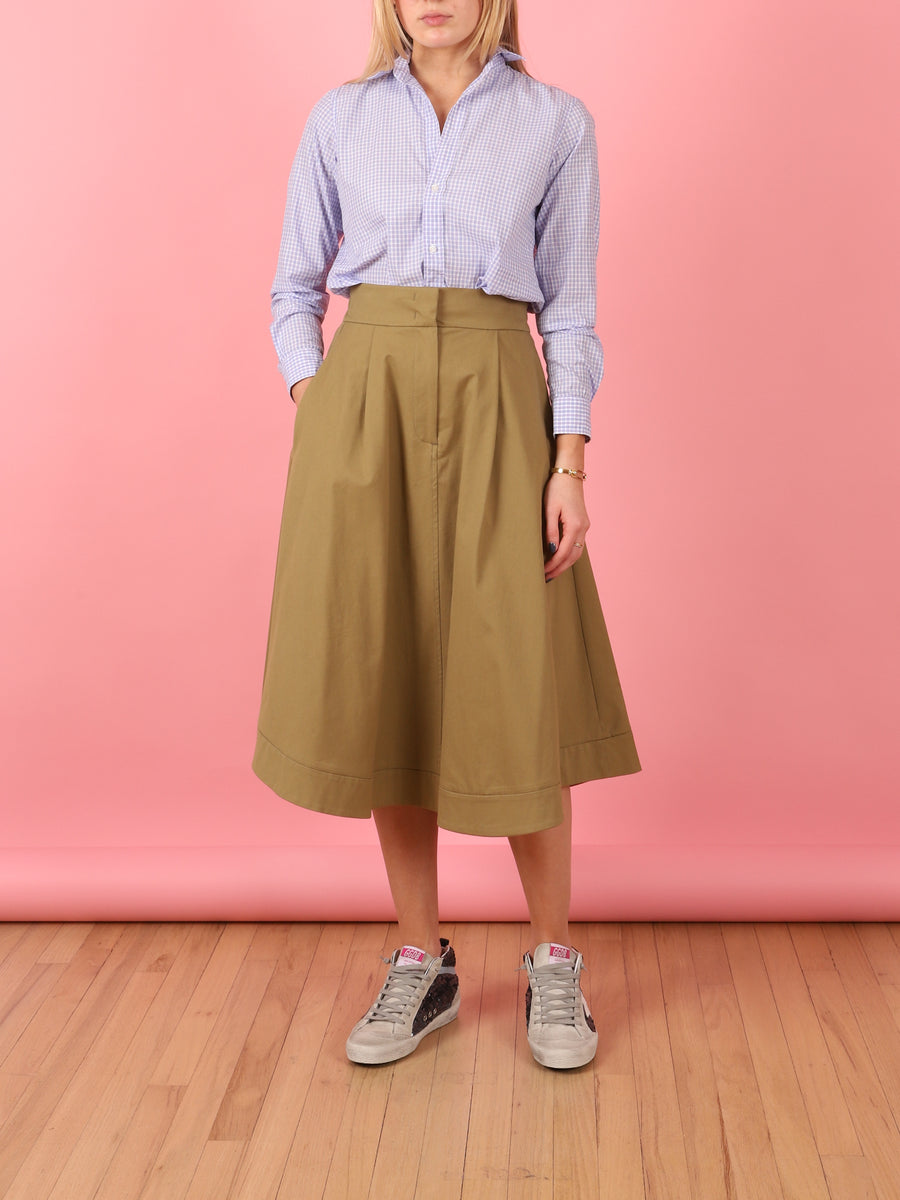Dalila Midi Skirt in Green