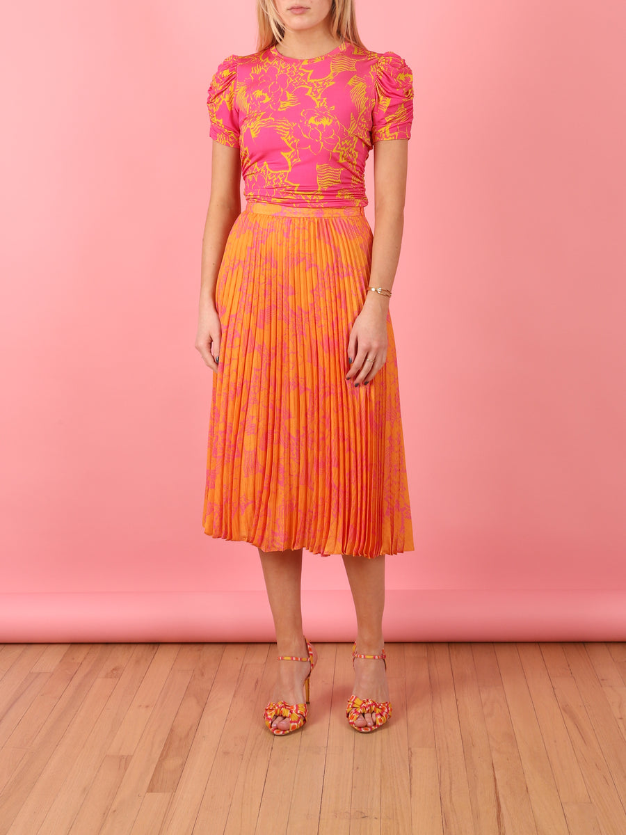 Jeana Skirt in Orange Ikat