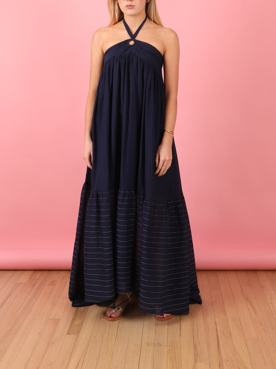 Diggi Palace Navy Halter Dress