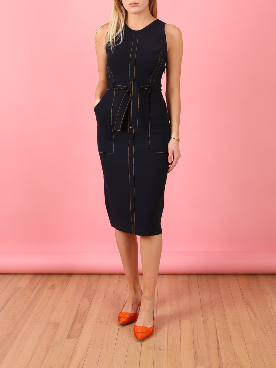 Inhibit Knit Dress in Navy