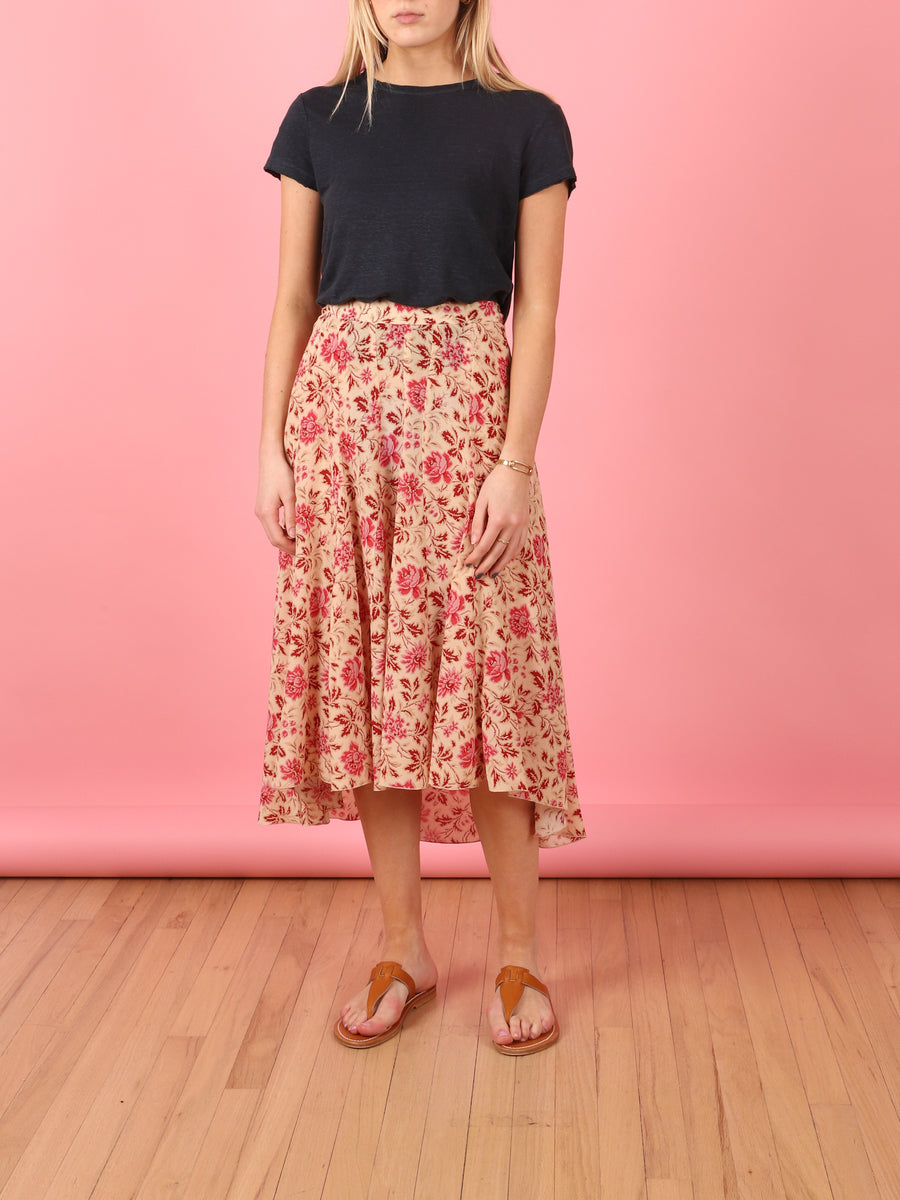 Boteca Skirt in Raspberry