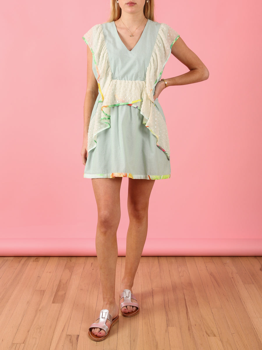 Kiki Dress in Sage Stripe