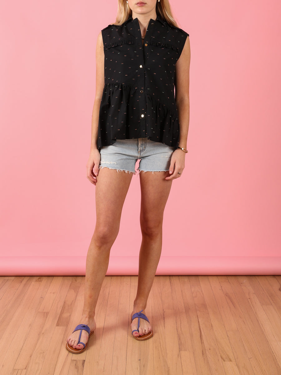 Hedda Shirt in Black Dot
