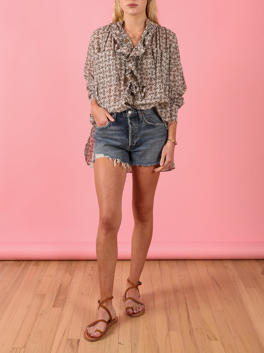 Frill Shirt in Oat