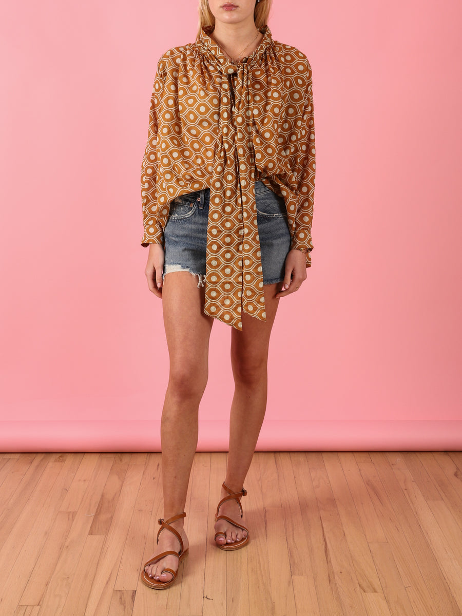 Bow Blouse in Honey