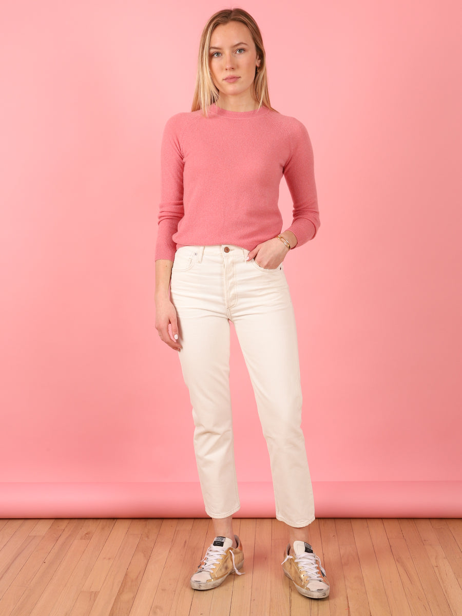 Charlotte Heirloom Crop High Rise Straight Fit