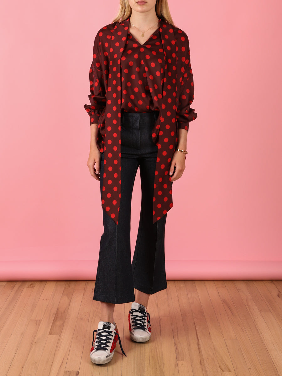 Iris Shirt in Red Dots