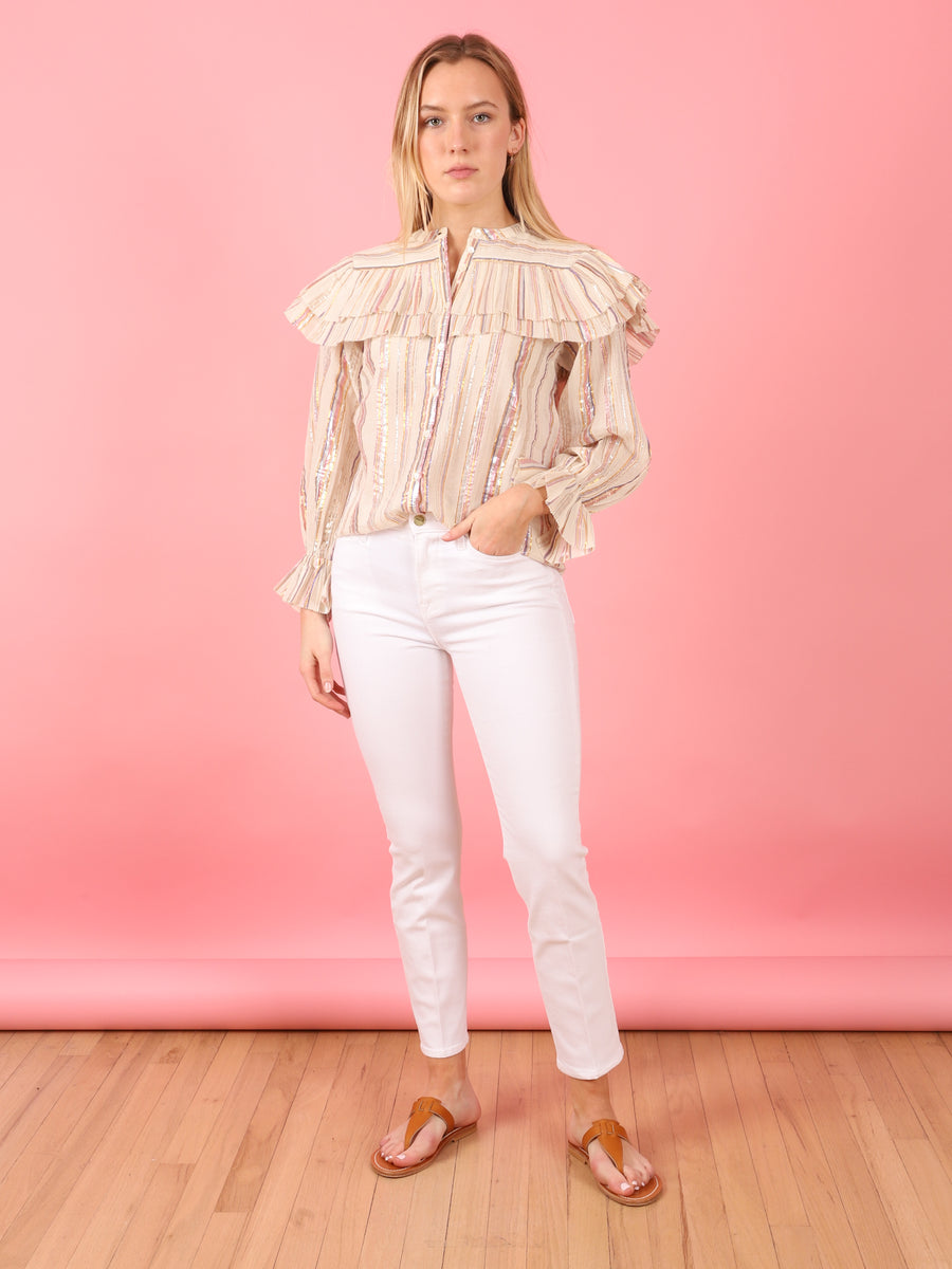 Metallic Harriet Blouse