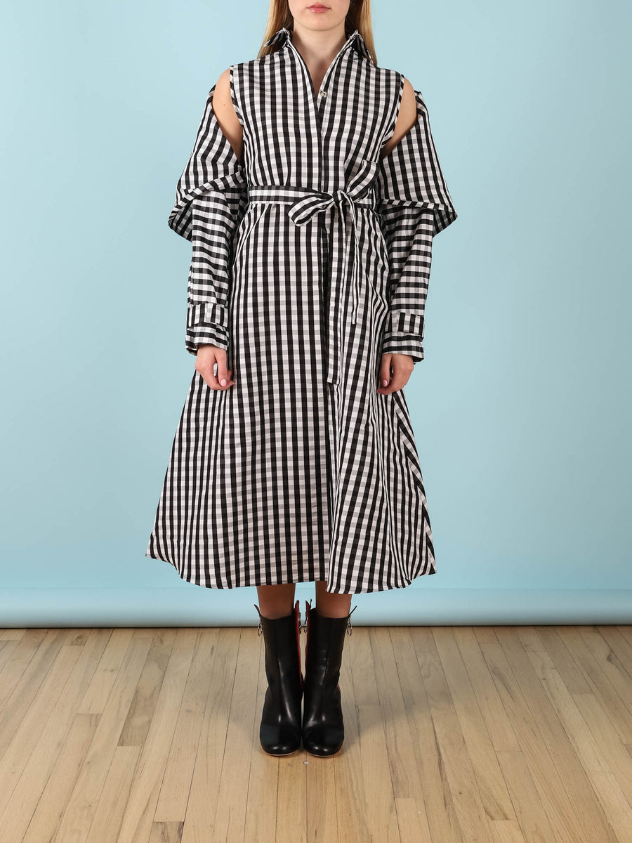 Belted Trench Coat Dress